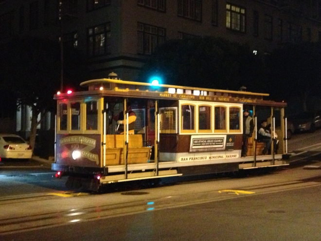 Fun fact: The trolley cars go until midnight. Other fun fact: I was asleep well before that time.