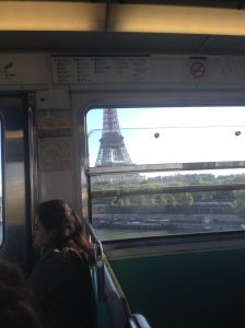 Eiffel Tower from the Metro
