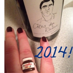 I rang in 2014 in style!  (The Nutella ring was a gift.)