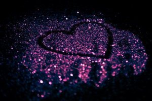 sparly love heart