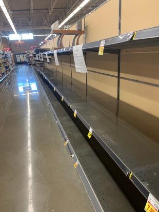 """Paper Goods"" aisle"